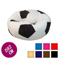 VISI football soccor bean bag,made of high quality PU leather
