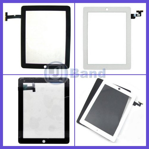 5pcs/lot For iPhone 4 4G Touch Screen Glass Digitizer ,100% New Black and White for Option Free Shipping