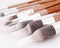 15 Pcs/set  Make Up Cosmetic Brush Pen Guards Cover Mesh Protectors wholesale 20sets/lot  free shipping