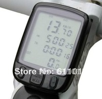 Free shipping New Sunding 563A Waterproof LCD Cycling Bike Bicycle Computer Odometer Speedometer with 24 Functions
