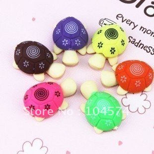 Free shipping Cute Carton Turtle Eraser,mini model fancy eraser,coloful,Novelty Stationery,promotional gifts,(China (Mainland))