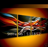 Free shipping High quality Stunning Colourful Hand-painted art artwork  Abstract oil painting on canvas  16x 24=4p B107