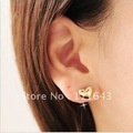 D01109 high-grade girls essential goods copper gold-plating love heart earrings 10pairs/lot