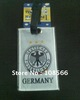 Germany white baggage tag/ footabll  fans travel name tag