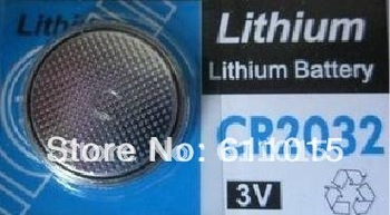 Free shipping sigma bicycle stopwatch Lithium Battery CR2032 CR 2032 3v Cell Button Coin Battery wholesale 50 pcs