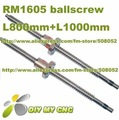 Rolled SFU1605 Ball screw Assembles L800mm*1pcs L1000mm + Single ballnut with end machining for BK12 fixed end and BF float end
