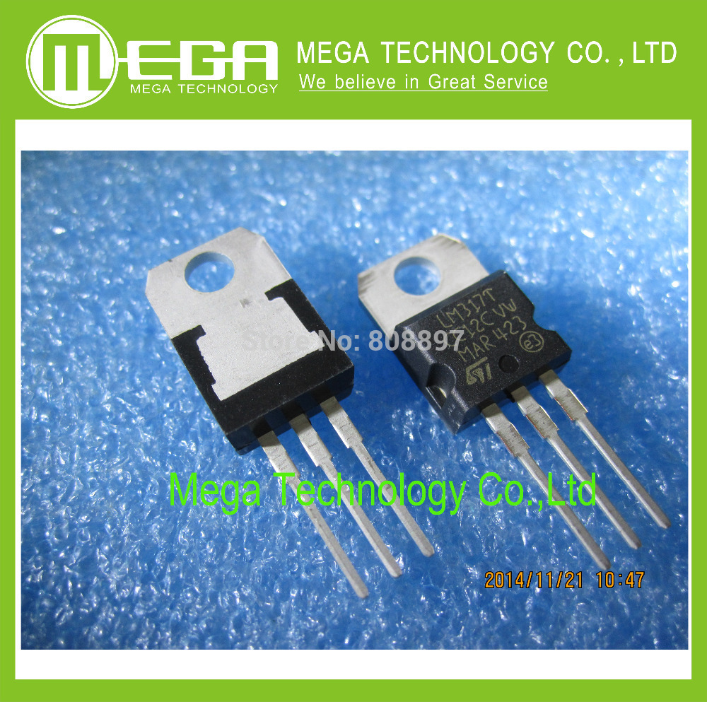 Hot...50pcs, Free Shipping    POWER    TRANSISTORS    LM317   LM317T   TO-220  ST