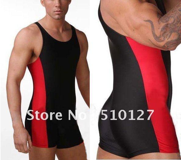 Swim Suit Body build Mens Uniform font b Athlete b font Suit Sportswear font b Swimwear Slide triangle bra, ties around neck and back.