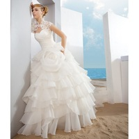 Puff skirt wedding dress 2012 bride cape wedding dress elegant hot-selling e5209
