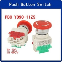 10pcs Red Mushroom Button Emergency Stop Clockwise Move Reset Switch
