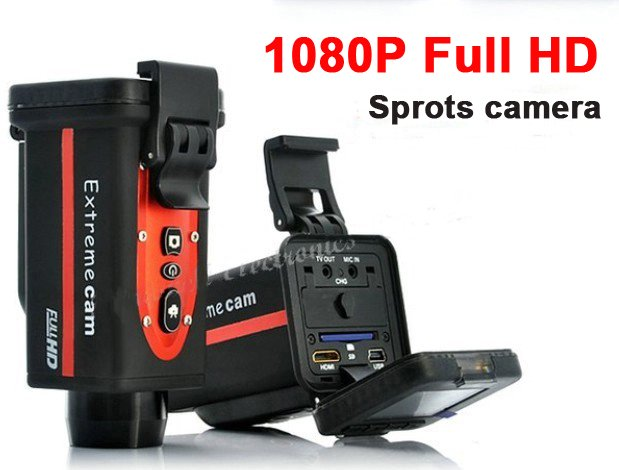 New 8GB 1080P Full HD digital sports video camera (1920x1080) for private car, bicykle, motobike, helmet free shipping(China (Mainland))