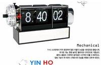Genuine Iraqi gifted Knox dynamic flip alarm clock (black and white) table flip clock Free shipping