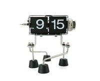 flip clock with Robot legs creative clock Free shipping