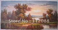 HIGH Q!Classical landscape oil painting on canvas,Home decoration oil painting.TOP quality and low price oil painting wholesale