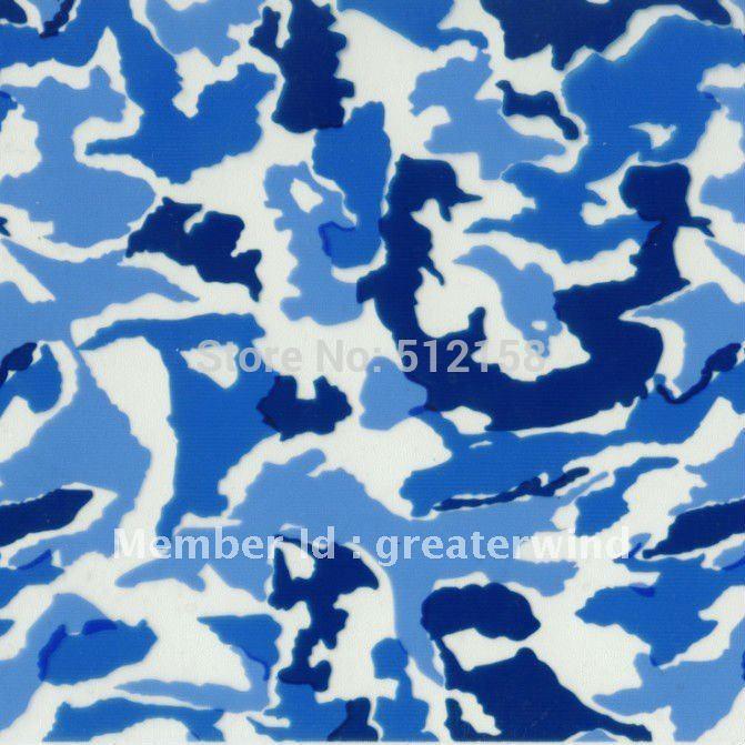water transfer printing film Navy blue Camoflage Royalty Hydrographic Printing Film GW2393-2 width100cm(China (Mainland))