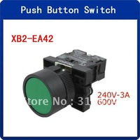 5pcs Green Industrial Electric Normally ON Contact Push Button Switch