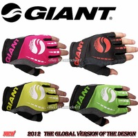 New GIANT Bicycle Mountain bike Fingerless Half Finger mens womens Gloves mlxl