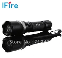LED flashlight  Q5 350 lumens 300M range  waterproof and  Rechargeable zoomable 18650 battery    free shipping