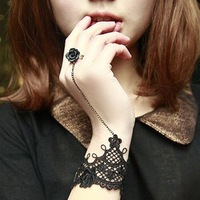 New Arrival Best Selling Fashion Jewelry Vintage Lace Gothic Bracelet Bangle LBR008 One Order One Gift Freeshipping