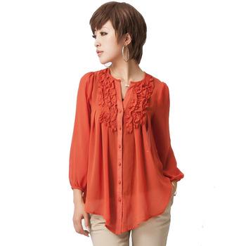 Free shipping Plus size  2012 summer OL  shirt / fashion chiffon shirt L XL 2XL 3XL 4XL