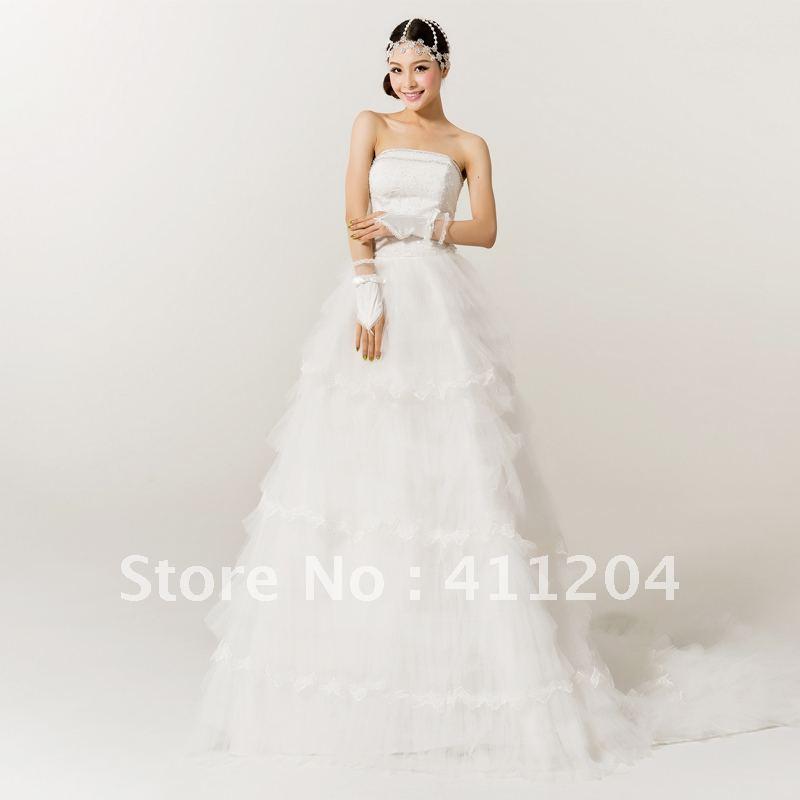 Princess Wedding Dress Big : Big train wedding dress princess royal vintage fluffy