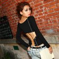 free shipping  pub sexy metal chain cross tight top 074 hot  sale