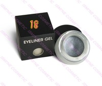 30 color to choose  free shipping  Water Proof Eye liner Gel Shimmer Grey #18