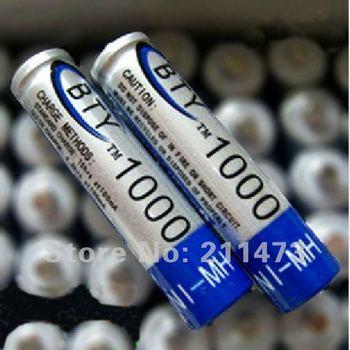 Free Shipping.4PCS/set AAA-7 BTY Original Rechargeable Battery Pack 1000mAh Ni-MH 1.2V,100pcs/lot