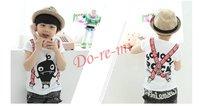 2014 summer fashion children's t-shirts short sleeve kids clothes 5pcs/lot cotton children wear free shipping