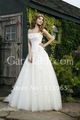 2012 New Style White Strapless Sleeveless A-Line Wedding Dresses Applique Pleated Floor Length Chapel Train Bridal Gowns