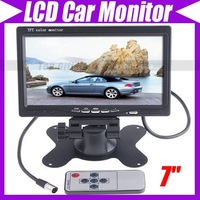 "7"" TFT Color LCD 2 Video Input Car RearView Headrest Monitor DVD VCR #1567"