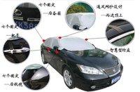 top automobile cover polyester half car cover waterproof car hood automobile umbrella half auto cover