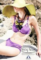 free shipping!  Sexy Bikini  Swimwear  white Beachwear swim Set- No breast pad-5130#