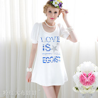 wholease white sparkling diamond bubble short-sleeve woman's dress t-shirt