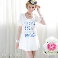 wholease white sparkling diamond bubble short-sleeve woman's dress t-shirt SIZE S