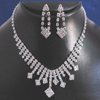 XL15 Neckace earrings set Elegant Rhinestone  Jewelry Set for Wedding Bride Party  O-QXL006-12  wholesale