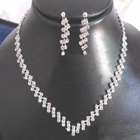 A002 Neckace earrings set Elegant Rhinestone  Jewelry Set for Wedding Bride Party  O-QXL010-9  wholesale