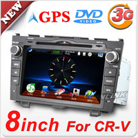 "Special 8"" 2 DIN Car DVD Player For Honda CRV With GPS Stereo Audio Bluetooth Phone + Free Shipping"
