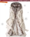 2012 Faux fur lining women's winter warm long fur coat jacket clothes wholesale Free Shipping Y078