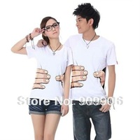 HOT Sale!T-shirt Funny Cool Designed T shirts Lovers Couple Clothes Clothing White free shipping