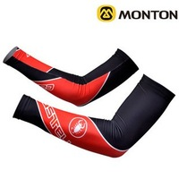 NEW!2012 CASTELLI Team Black&Red Cycling Armwarmers/Cycling Oversleeves/Cycling Wear/Cycling Clothing-1H Free Shipping