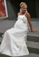 2011 Free shipping Off The Shoulder New Pregnant women Wedding dress Formal Pregnant Bride gown