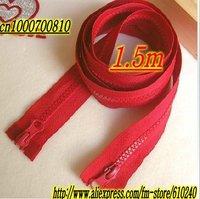 Hooded  jacket long double-headed zipper / coat length zipper (1.5 m) big red / 065