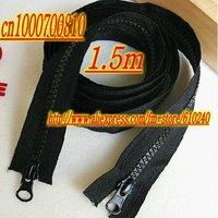 Hooded  jacket long double-headed zipper / coat length zipper (1.5 m) Black / 066