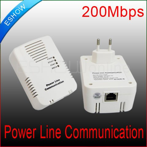 10pairs 200M Power Line Communication Ethernet Wireless Network Adapter Bridge home D2074B Eshow(China (Mainland))