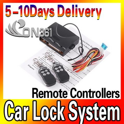 High Quality Car Remote Central Local Kit Locking Keyless Entry System with Remote Controllers 5pec/lot(China (Mainland))