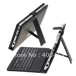 "new free shipping 10"" 10.1 10.2 inch USB keyboard case for ePad flytouch 3 superpad tablet pc laptop MID PDA(China (Mainland))"