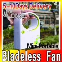 Competitive Price Mini Mobile Bladeless fan USB table no leaf fan air condition fan , USB Line with Colorful