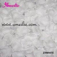 Wholesale 5000pcs White Fabric Silk Rose Petals Wedding Party Decoration Free shipping