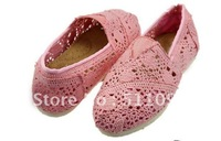 Free shipping New women's Hollow out hook flower cloth shoes( 12Pairs )
